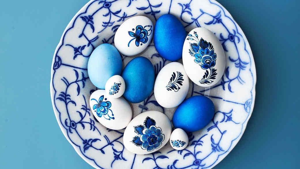 royal copenhagen easter eggs in bowl