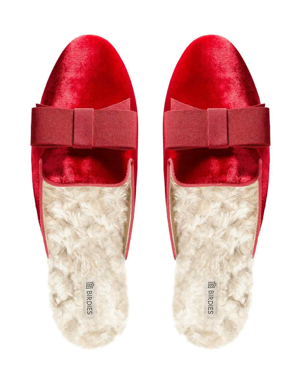 red birdies slippers