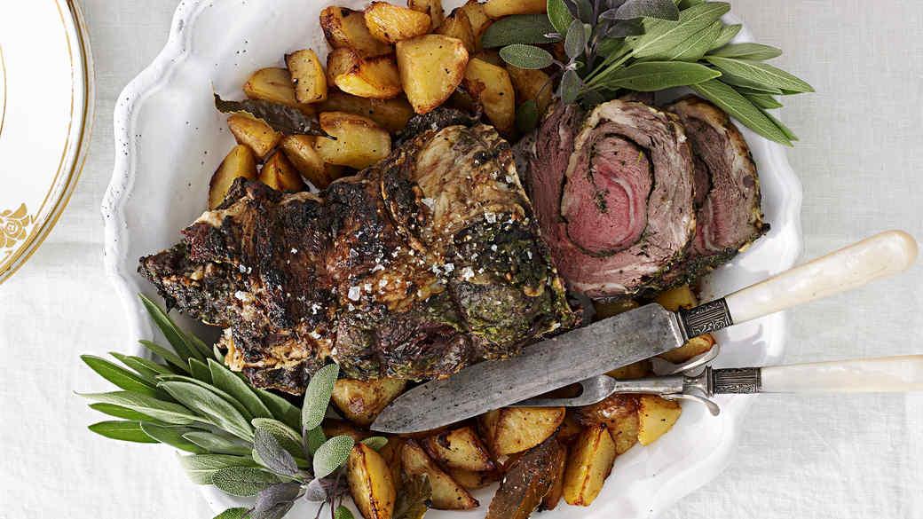 rolled rib eye roast