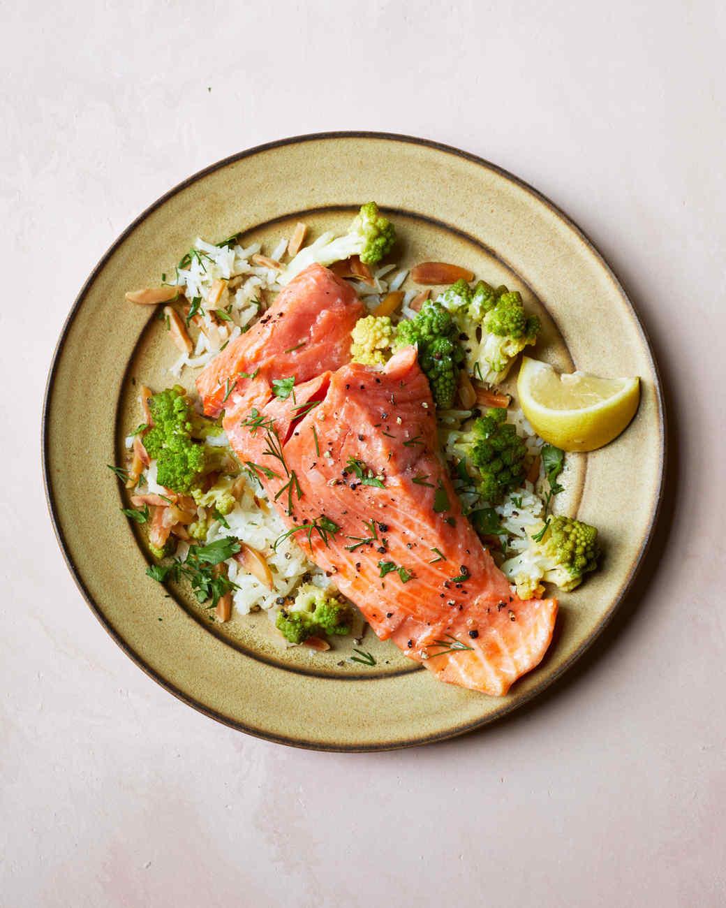 Wild Salmon and Romanesco Pilaf