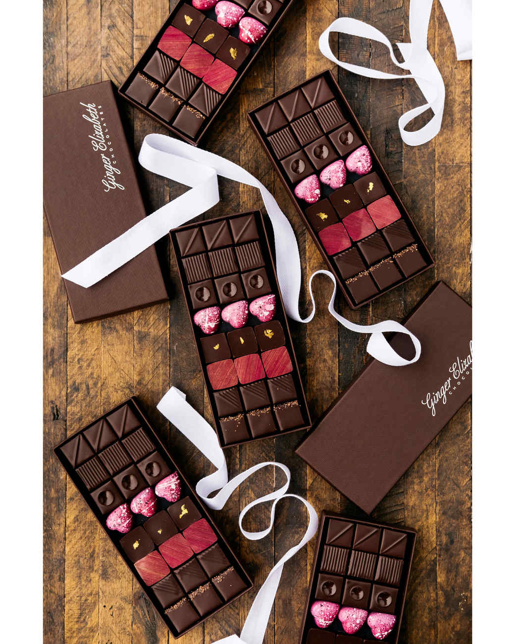ginger elizabeth chocolate boxes and ribbons