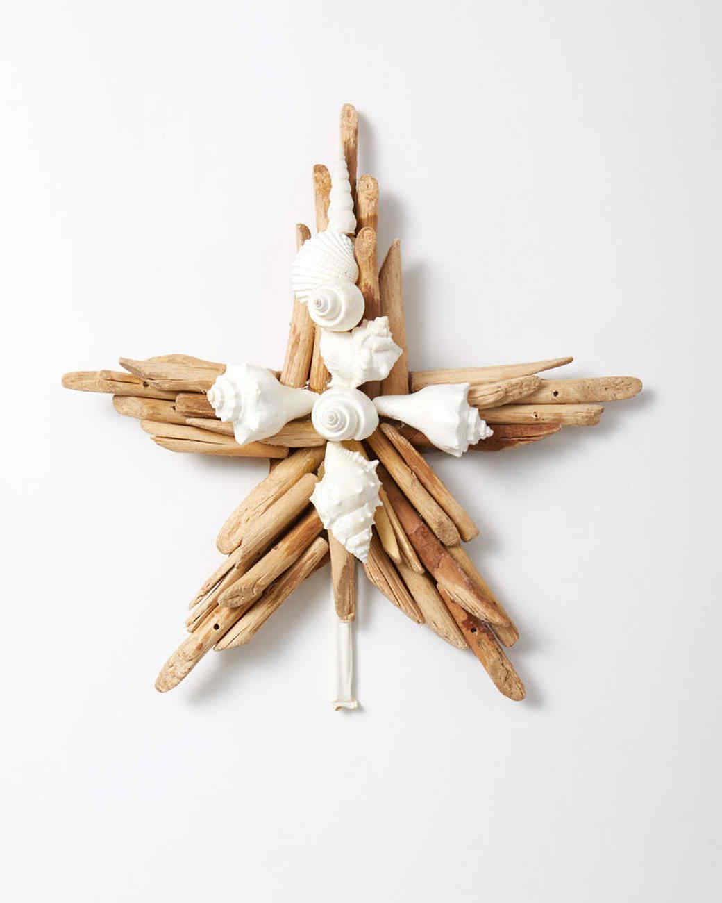 Martha Stewart Christmas Tree Topper: Driftwood-Seashell Star Tree Topper