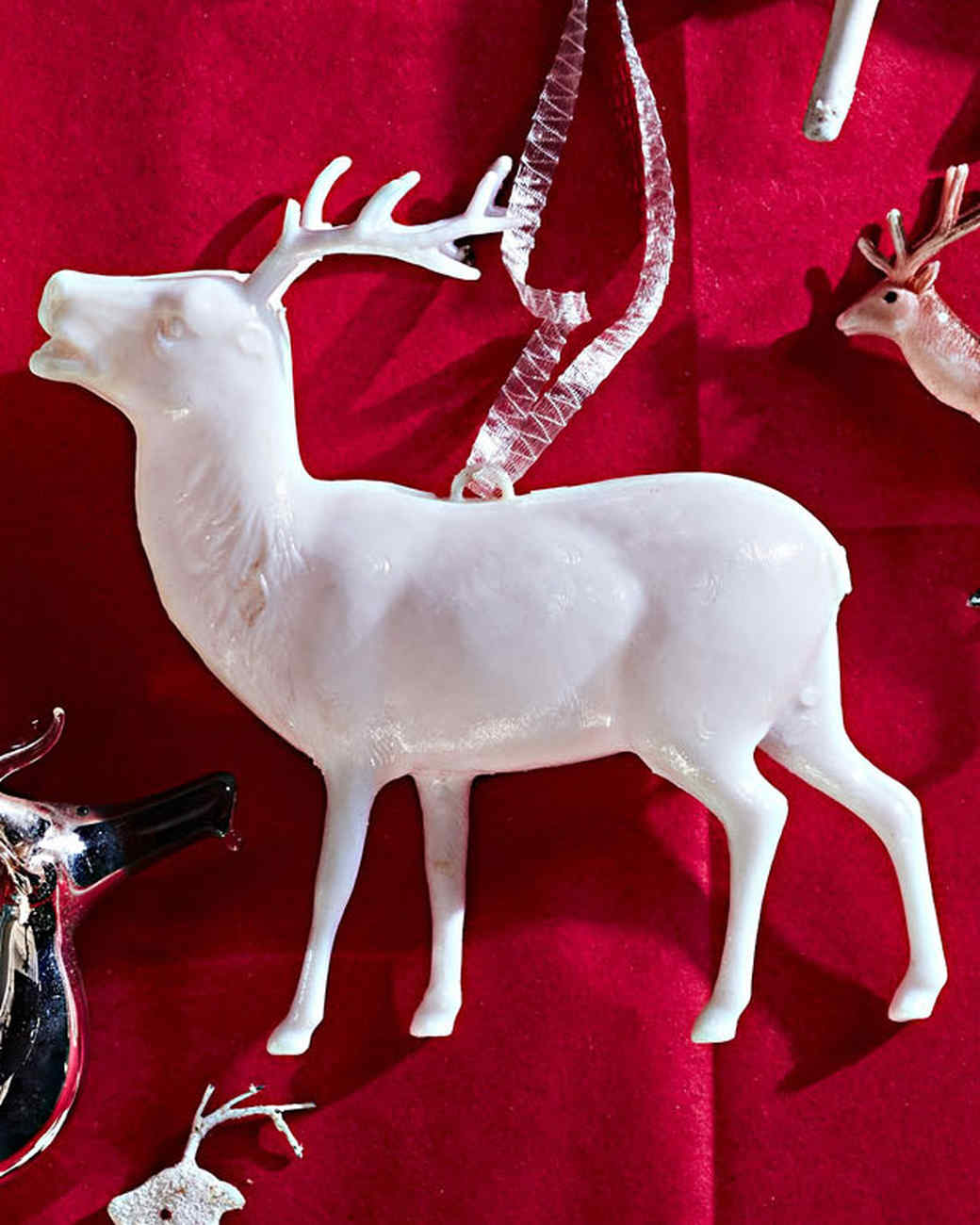 larger thermoplastic reindeer ornament