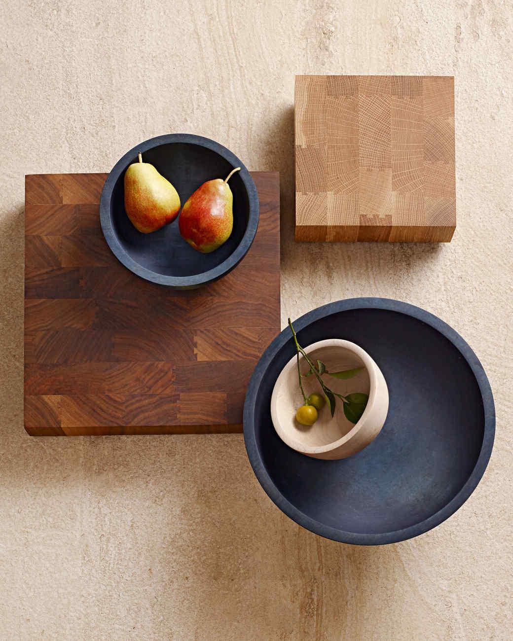 Silvia Song's wooden bowls and butcher blocks