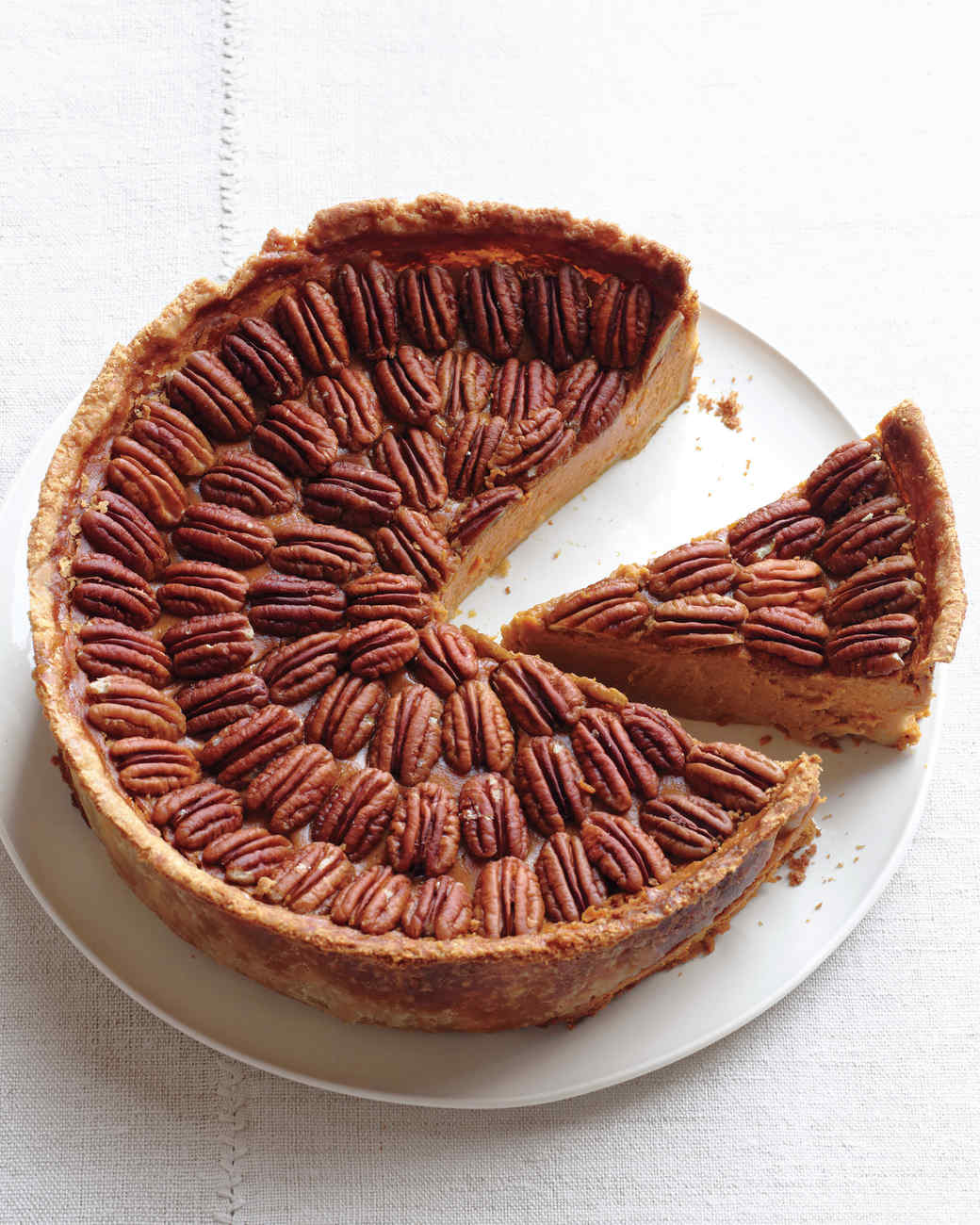 Mile-High Pumpkin-Pecan Pie Recipe | Martha Stewart