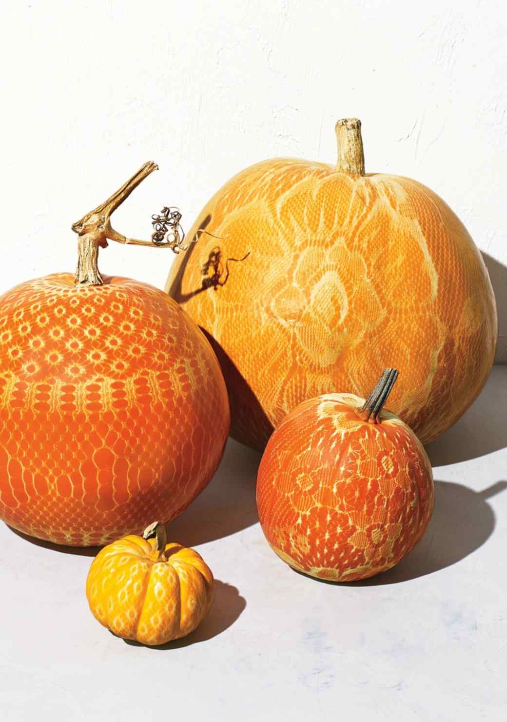 Chic and Lacy Pumpkins 10 Easy No Carve