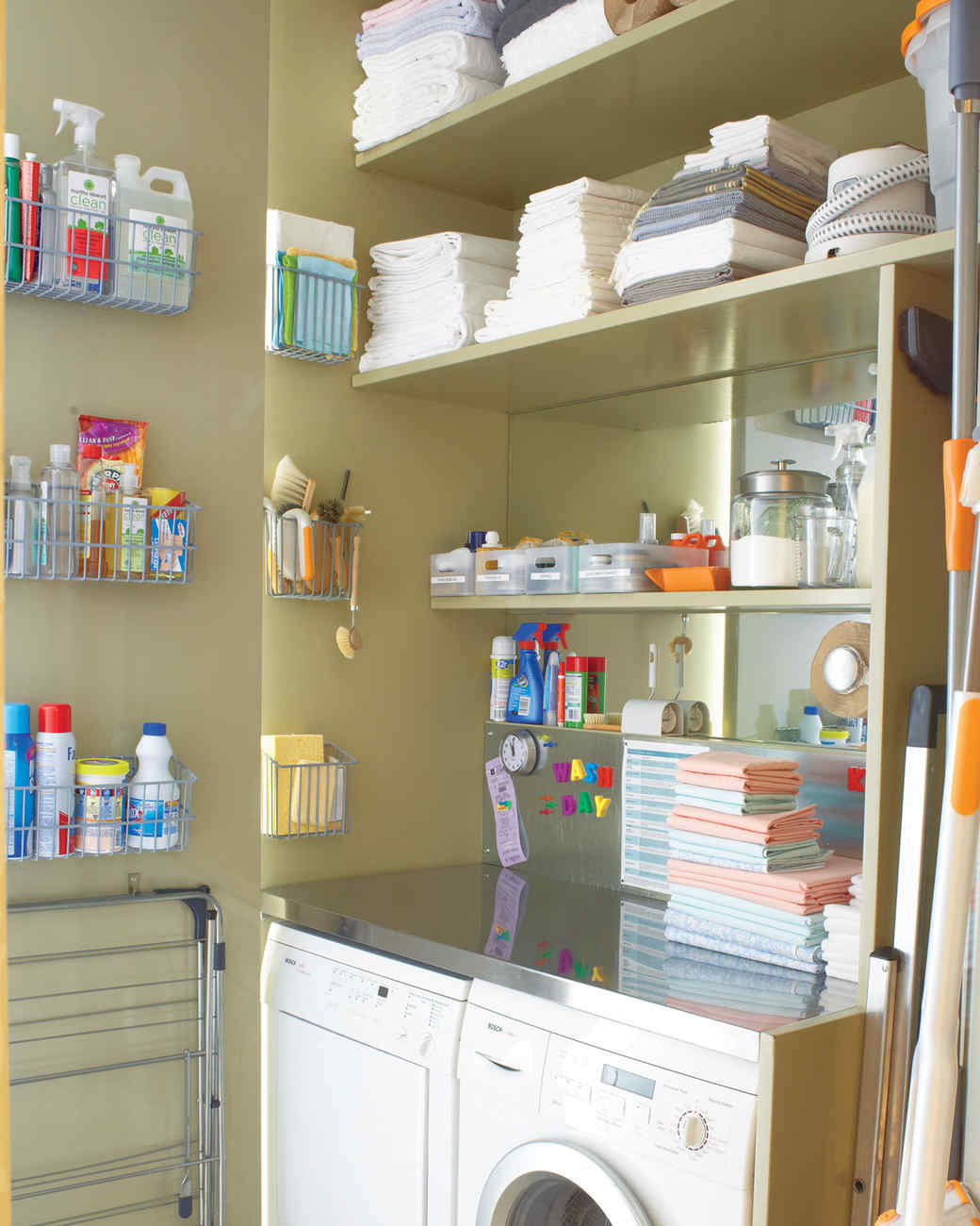 12 essential laundry room organizing ideas martha stewart for Room organization