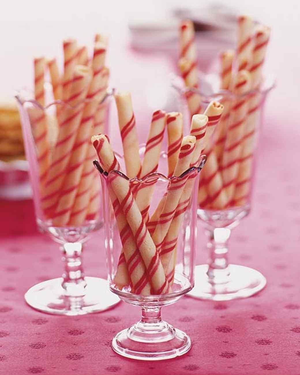 Candy-Stripe Cookie Sticks