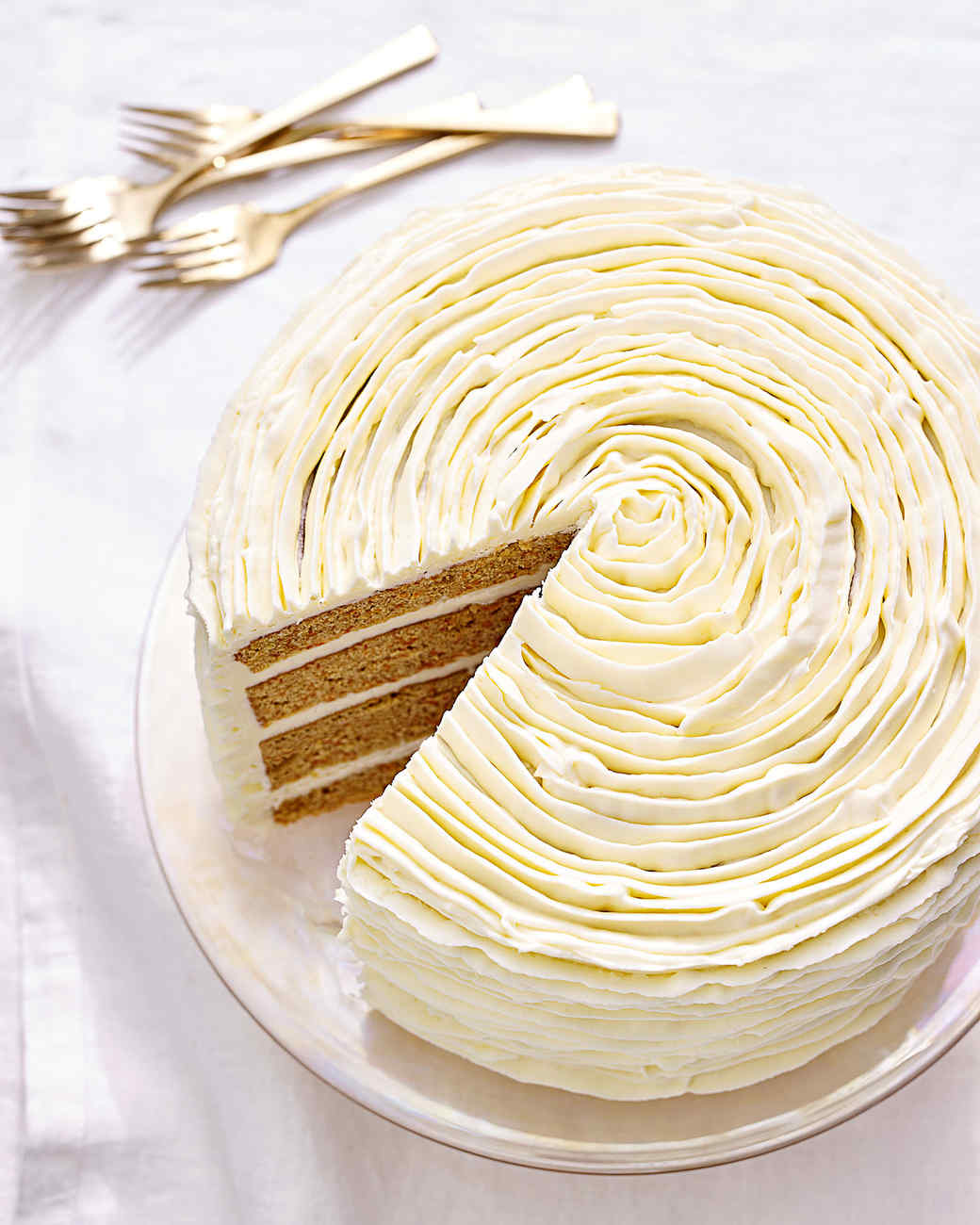 carrot cake with white-chocolate frosting