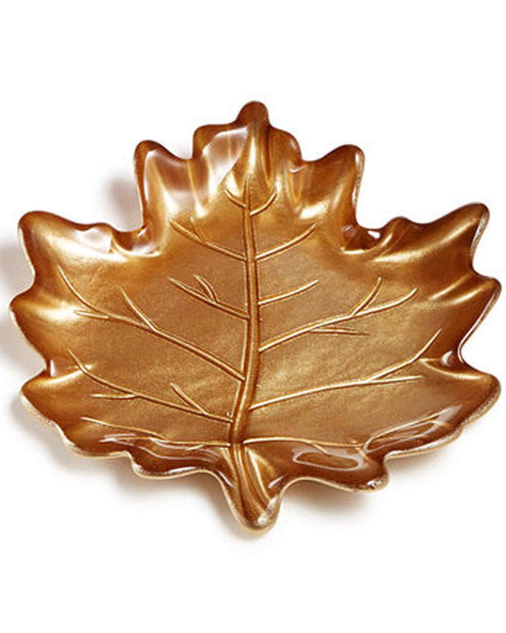 leaf appetizer plate