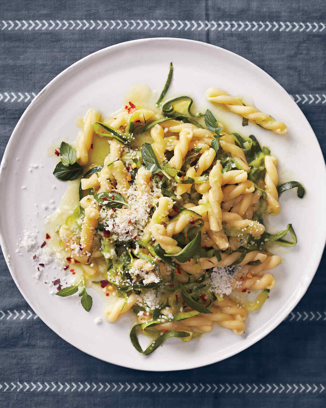 Pasta With Zucchini, Mint, and Pecorino