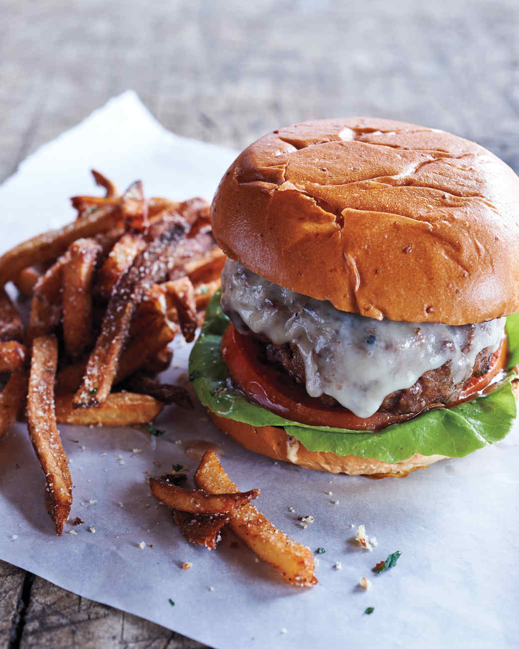 Beef and Bacon Cheeseburgers from Wyebrook Farm Recipe | Martha ...