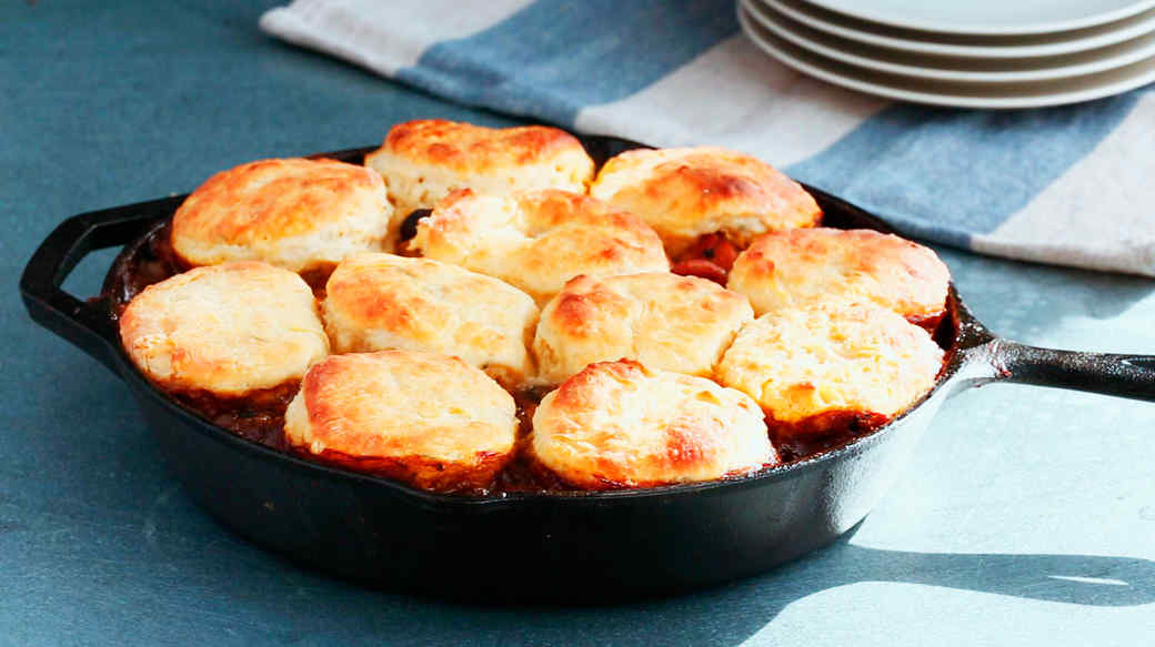 Emeril's Turkey Pot Pie with a Sage Biscuit Topping