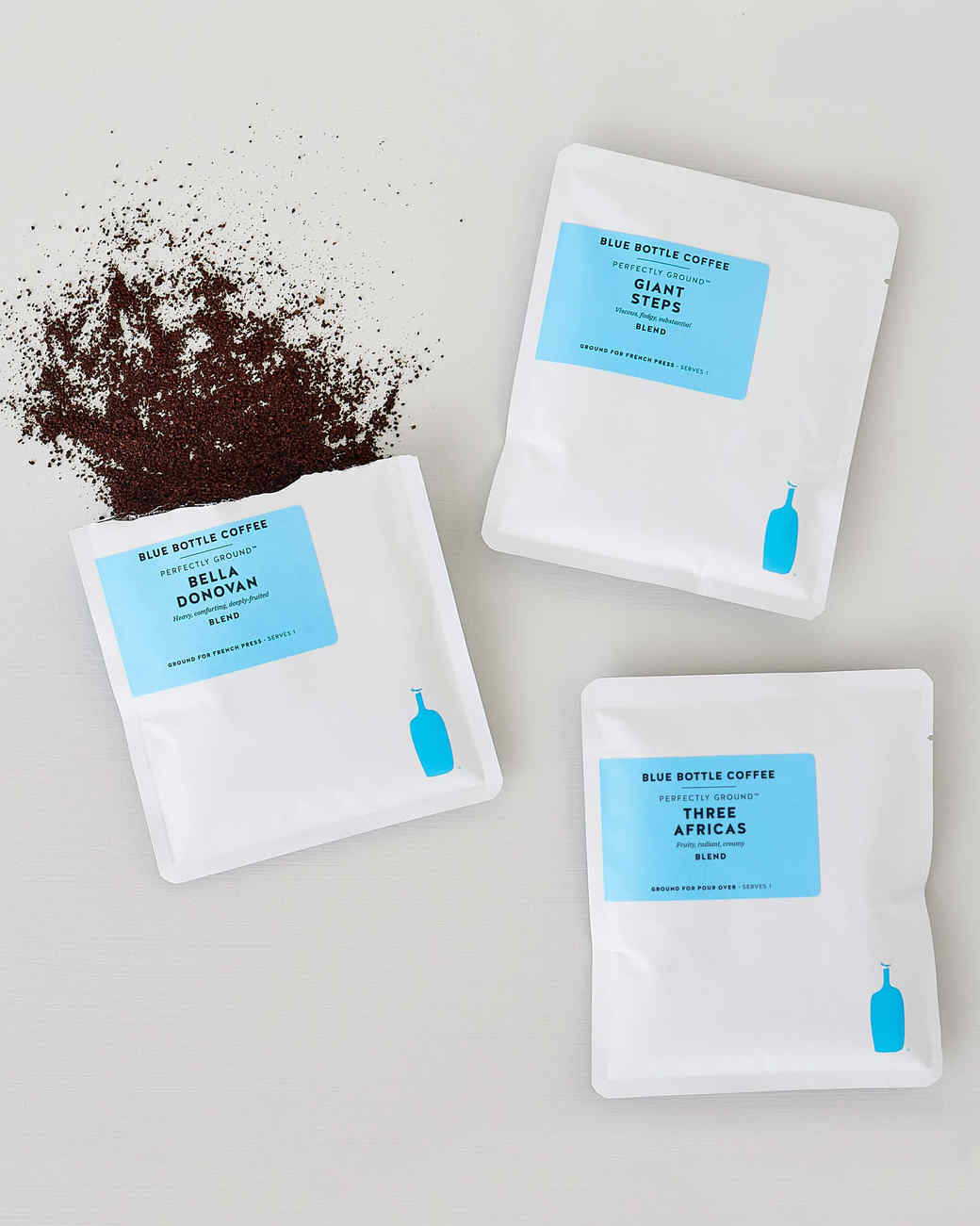 """packets of Blue Bottle Coffee """"Blend Box"""""""
