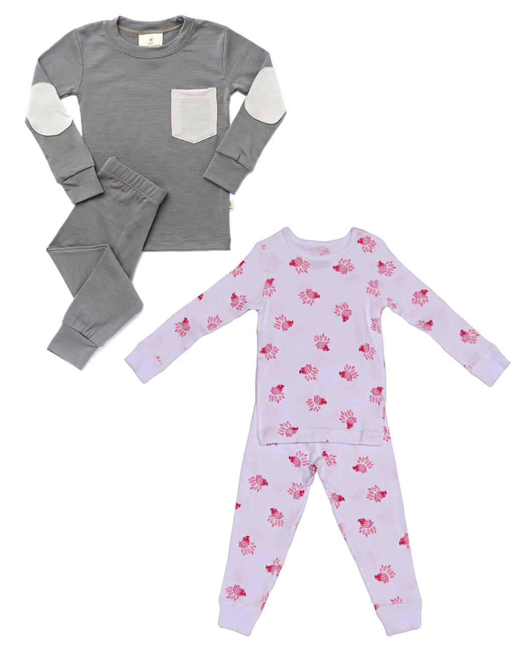 hedgehog and merino wool kids pajamas