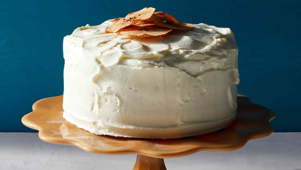 Apple Layer Cake with Cream,Cheese Frosting
