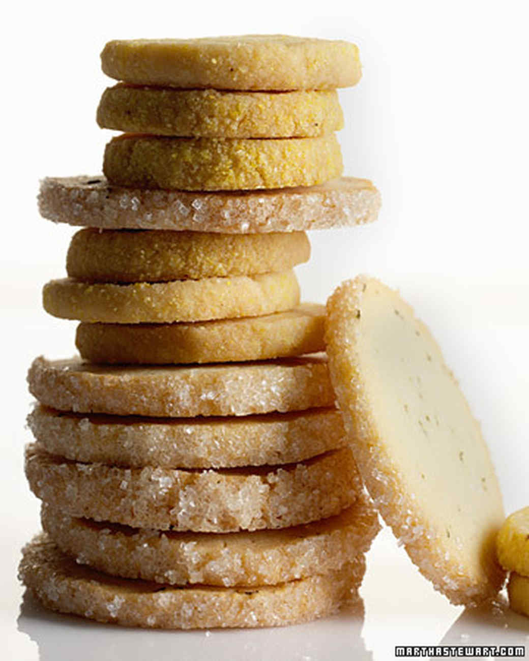 Citrus Cornmeal Shortbread and Rosemary Butter Cookies