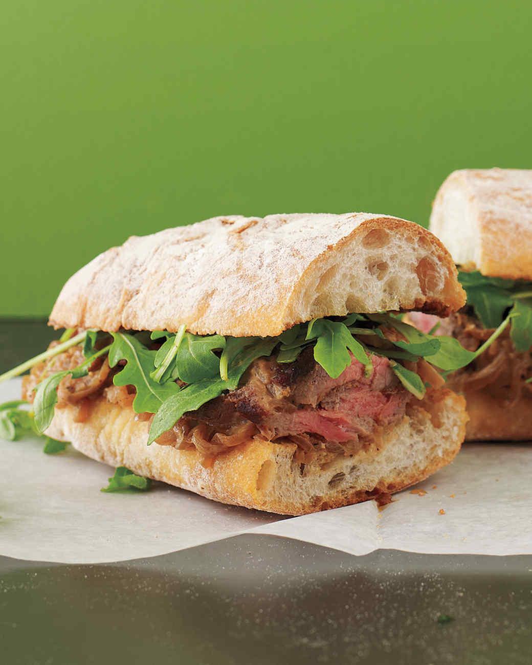 Steak Sandwiches with Creamy Shallots
