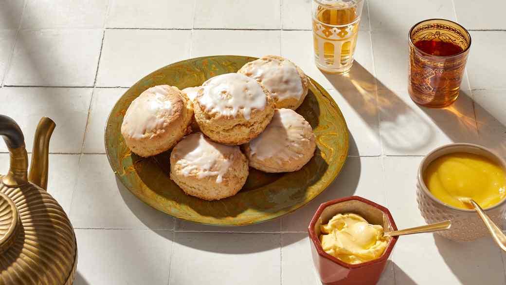 Glazed Lemon-Ginger Scones