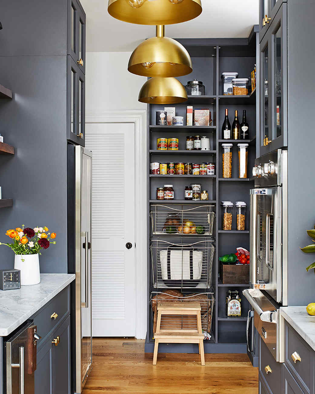 kitchen redo with open pantry storage