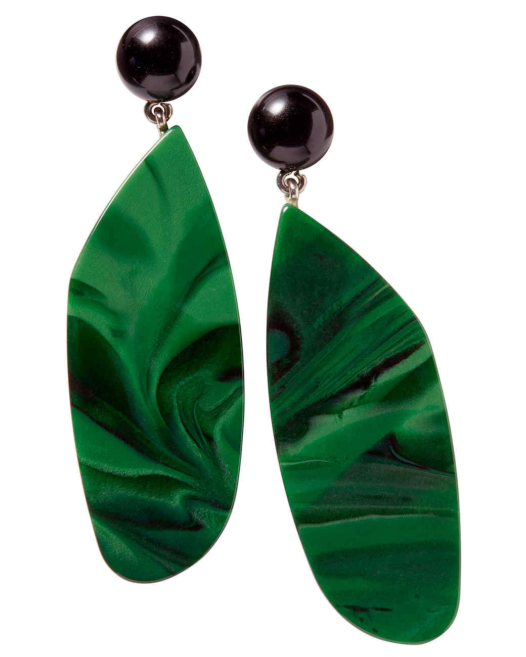 rachel comeys italian-made acrylic splitleap drop earrings