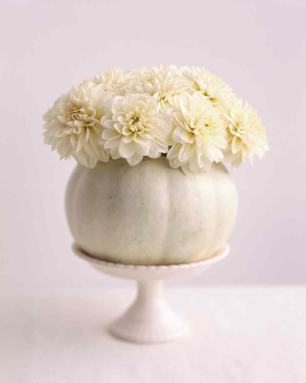 white pumpkin vase