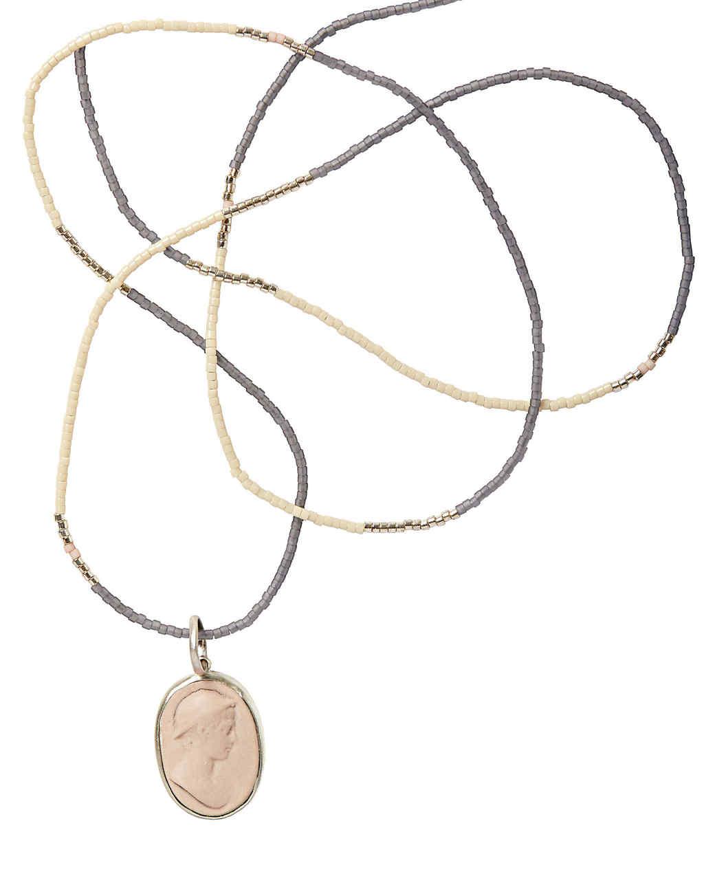 Marcie McGoldrick porcelain cameo necklace
