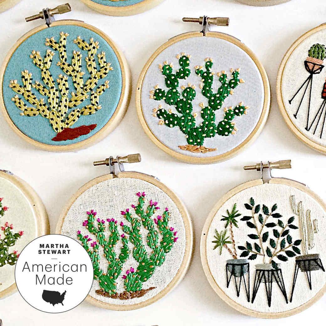 An Exclusive Look at Sarah K  Benning's Botanical Embroidery
