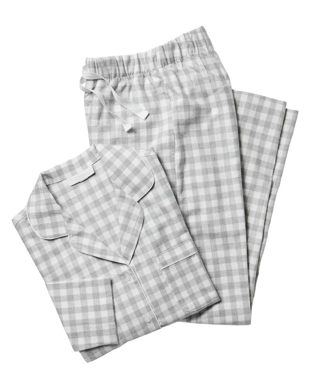 brushed cotton gingham pajama set gift