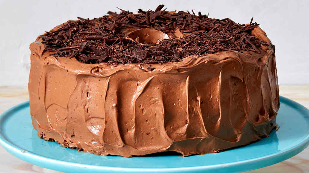Chocolate Angel Food Cake With Double Chocolate Frosting