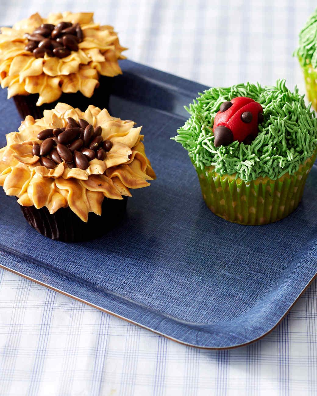 sunflower ladybug cupcakes martha bakes
