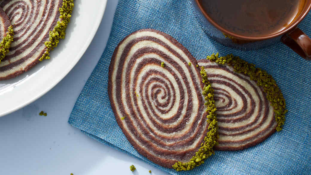 Vanilla And Chocolate Shortbread Swirls
