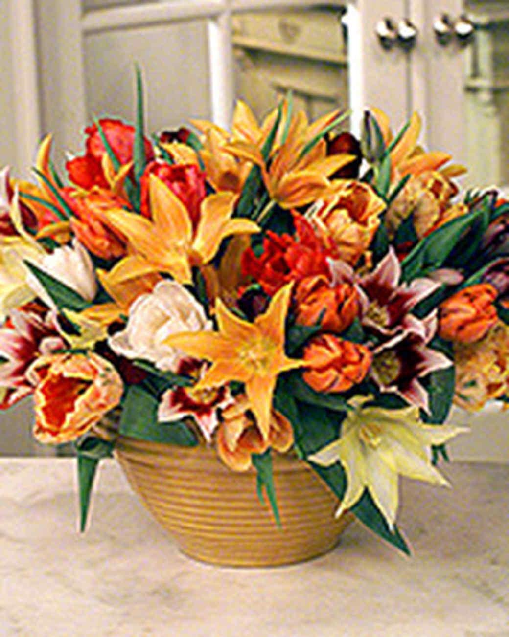 Arranging Tulips