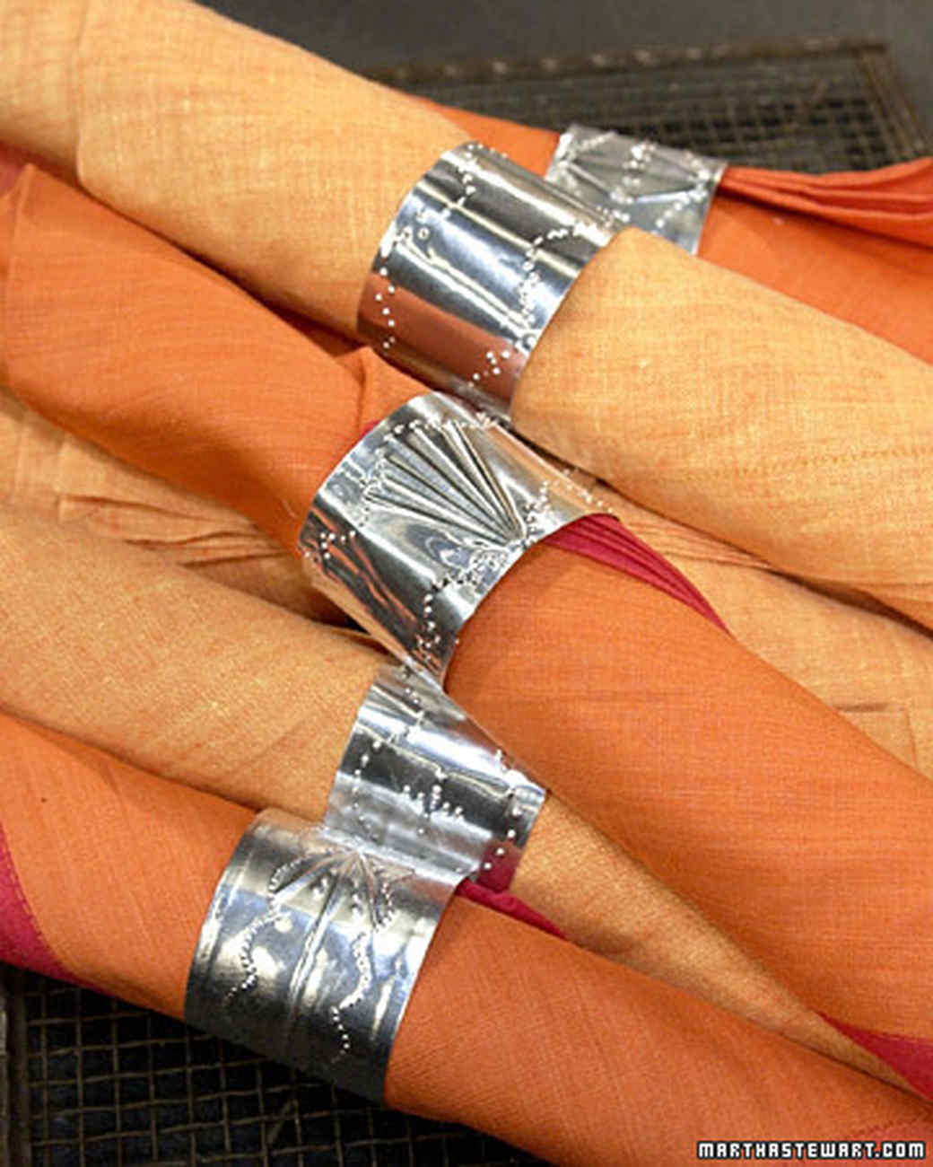 "Punched ""Tin"" Napkin Rings"