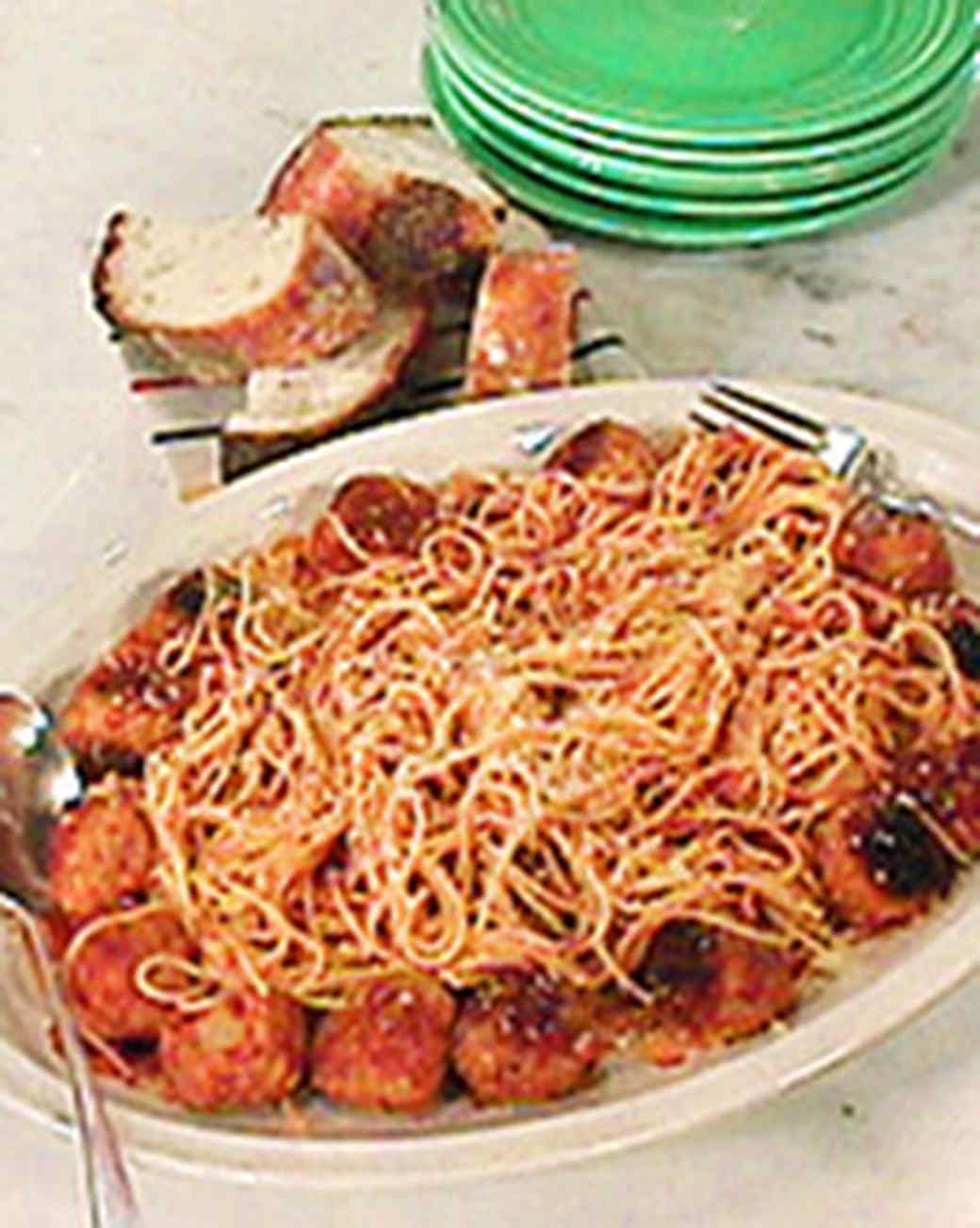 Spaghetti and Meatballs with Mark