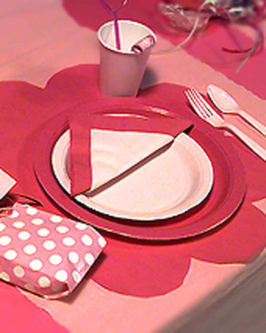 Barbie Party Table Setting