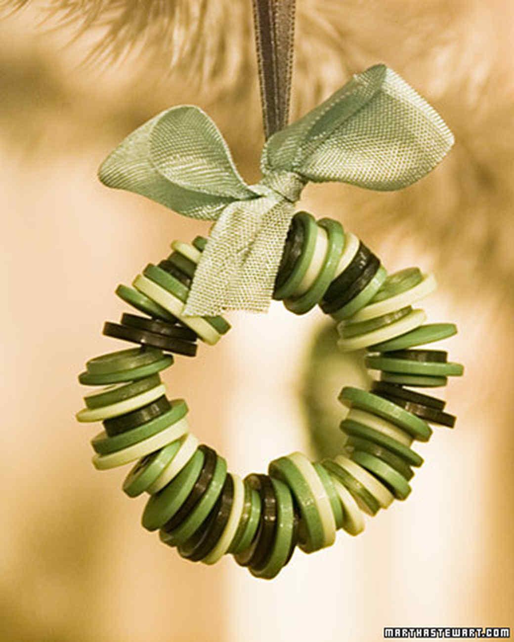 Button Wreath Ornament Martha Stewart