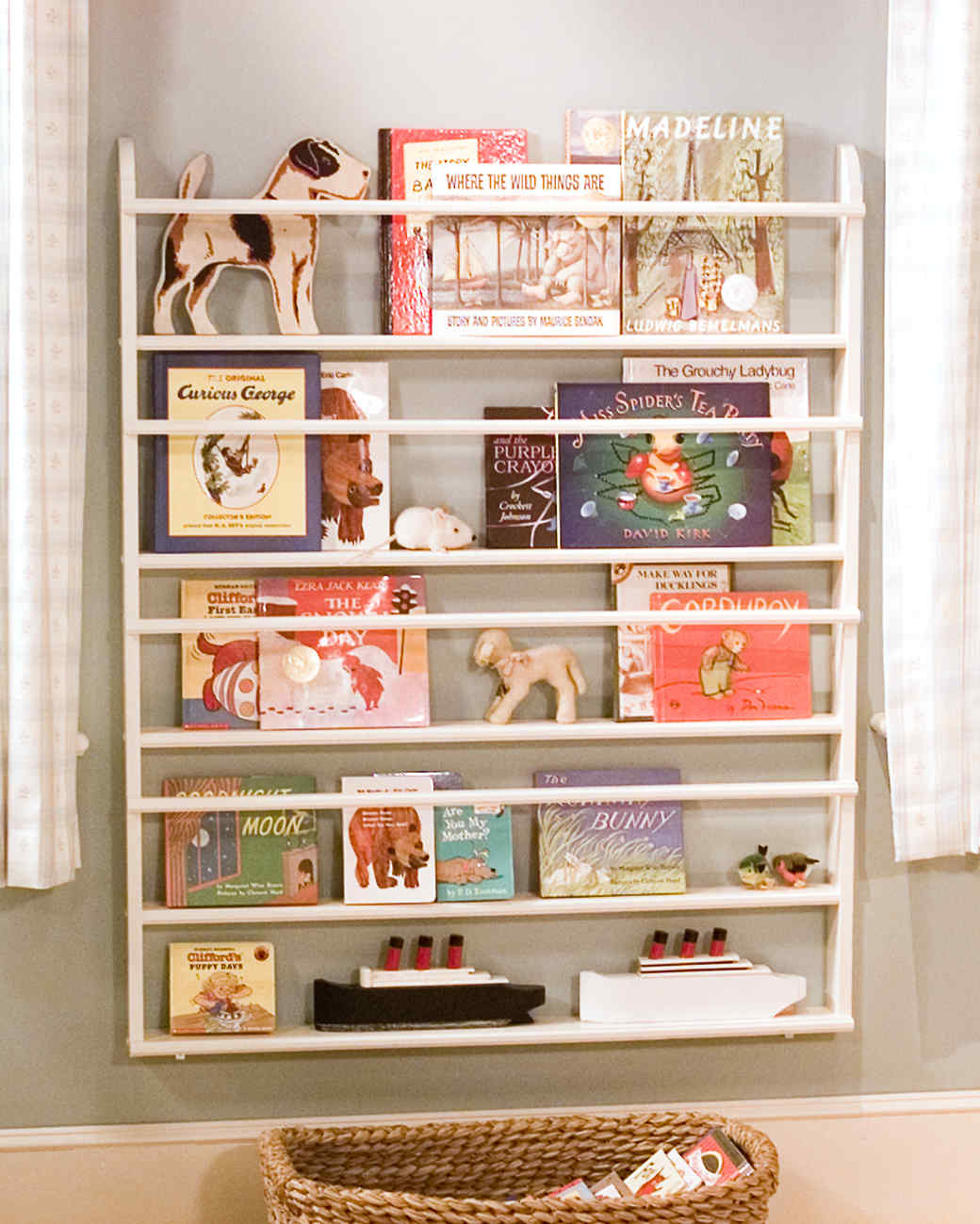 Bookshelves Images making children's bookshelves | martha stewart