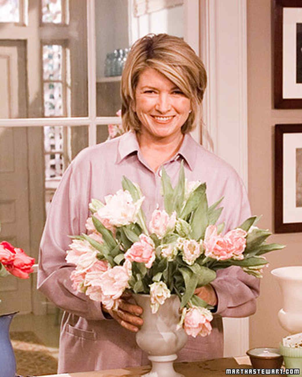 Arranging Tulips Martha Stewart