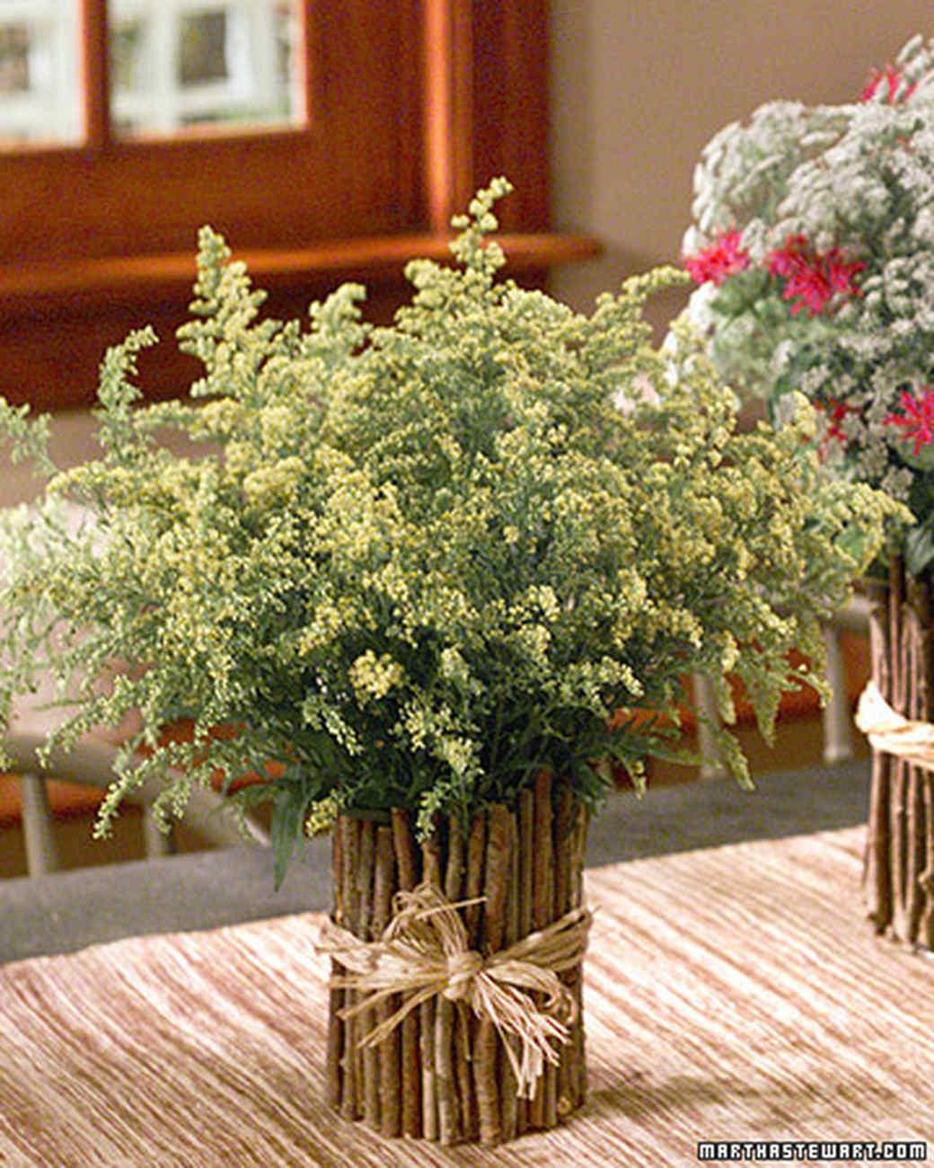 Twig Vase Floral Arrangement Martha Stewart