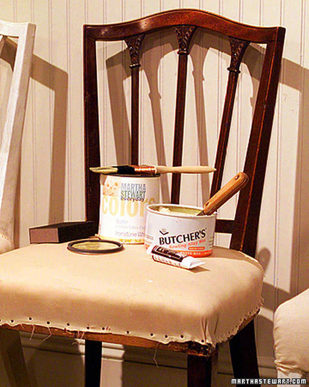 Antiquing a Chair - Antique Finishes Martha Stewart