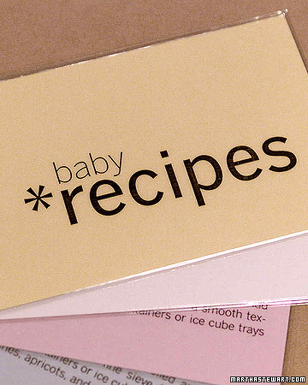 Baby food recipe cards martha stewart baby food recipe cards forumfinder Choice Image