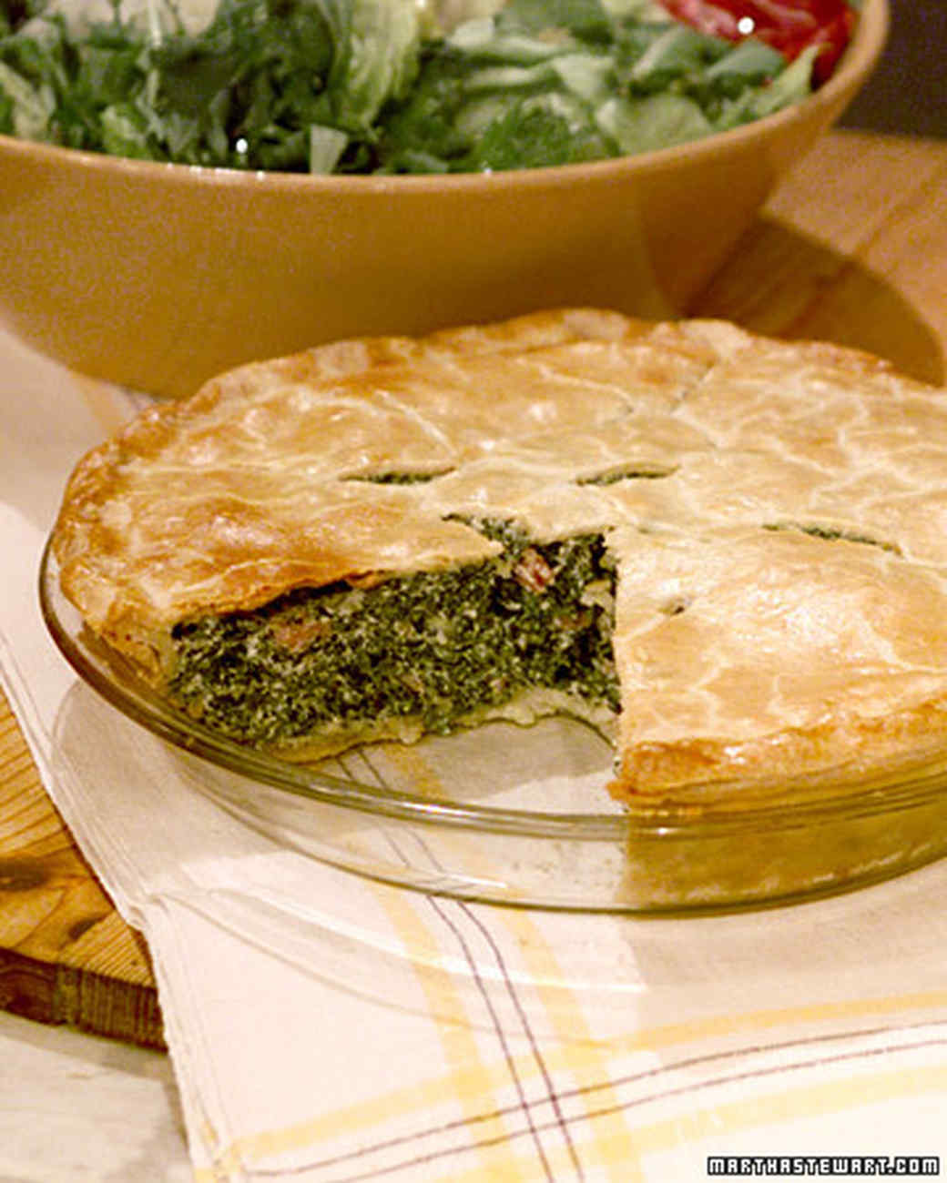 Lucinda's Spinach and Ham Pie