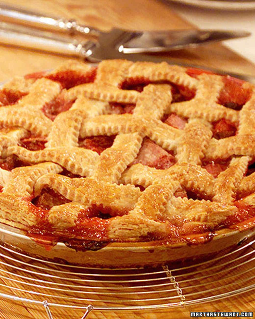 Rita's Raspberry Rhubarb Lattice Pie