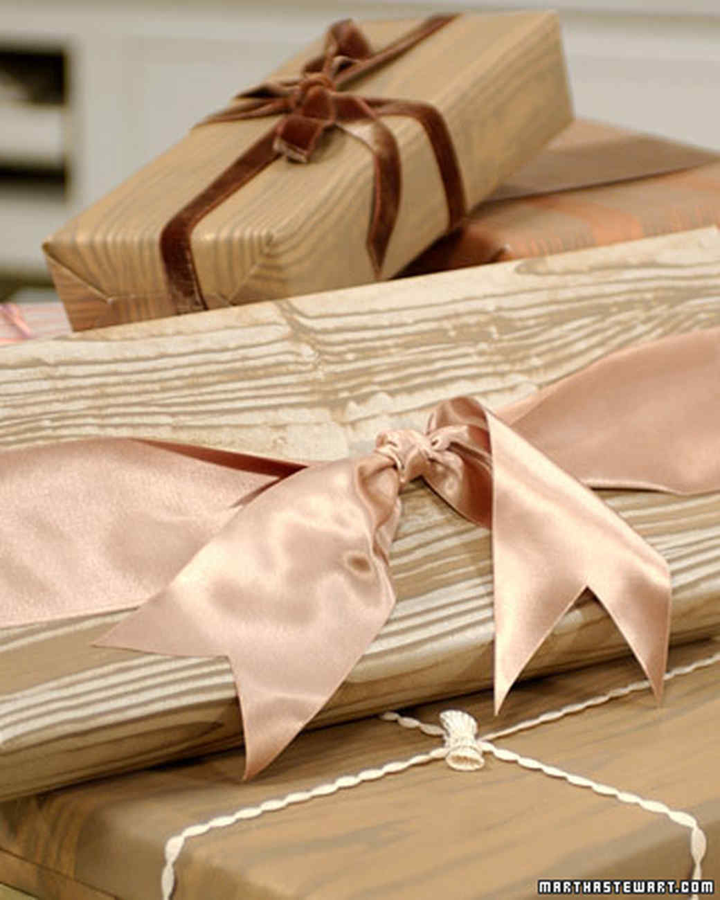 Wood-Grain Wrapping Paper