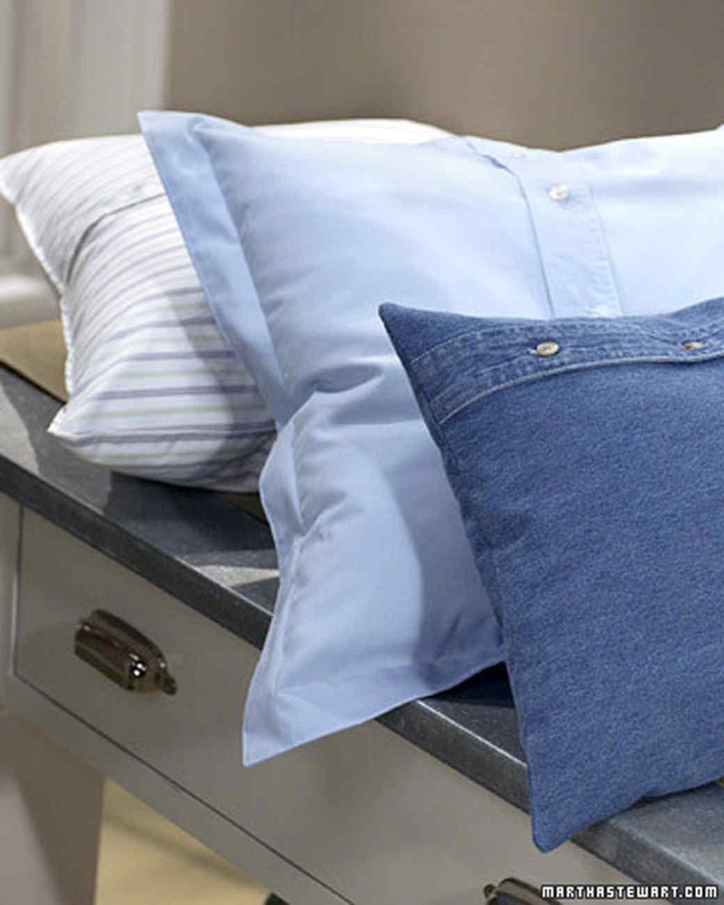 & Blue Shirt Pillow | Martha Stewart pillowsntoast.com