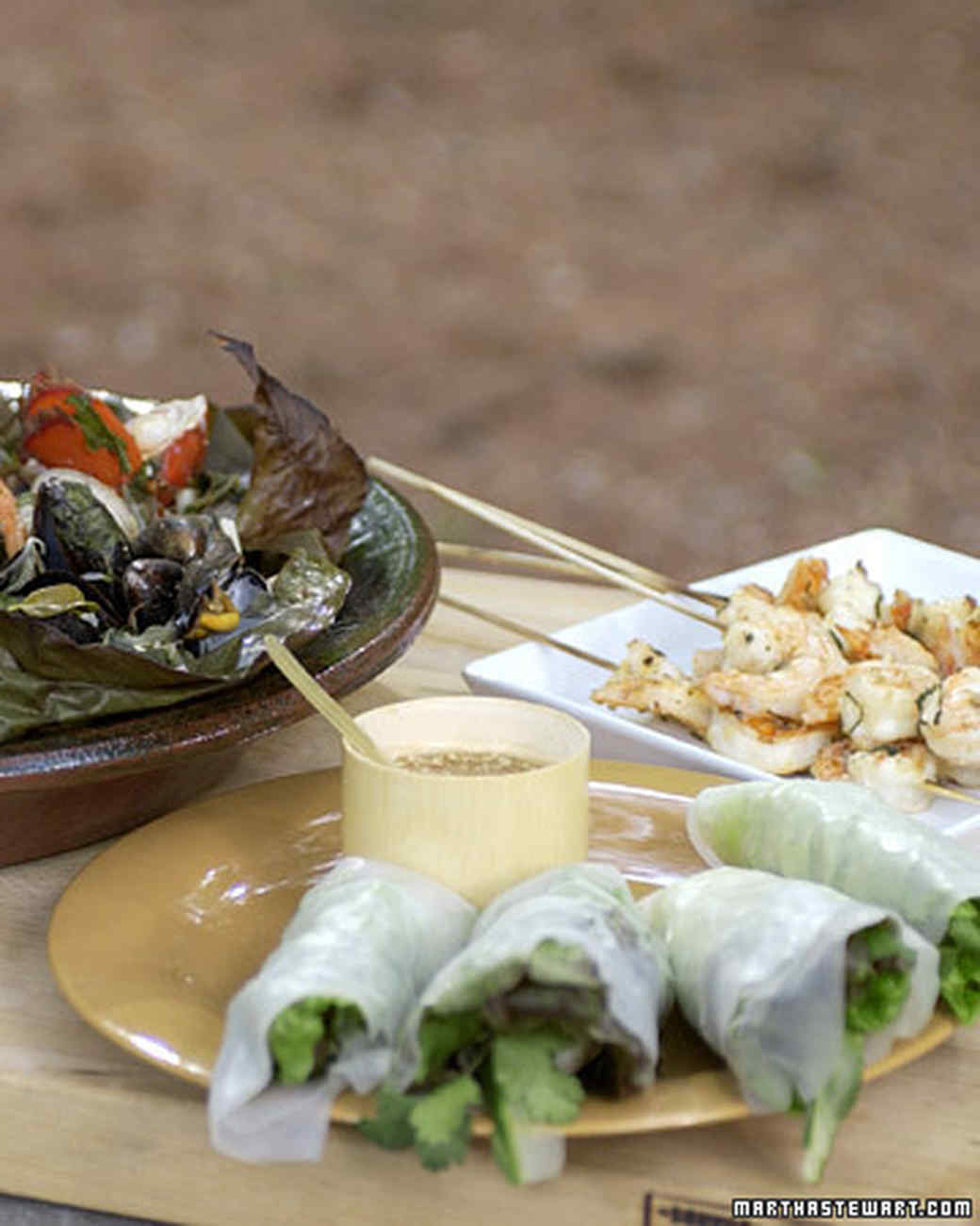 Su-Mei's Grilled Seafood Wrapped in Banana Leaves