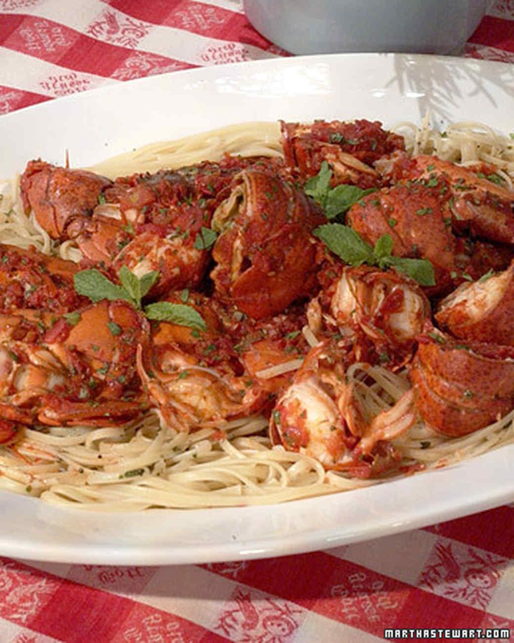 Linda's Spicy Lobster Linguine