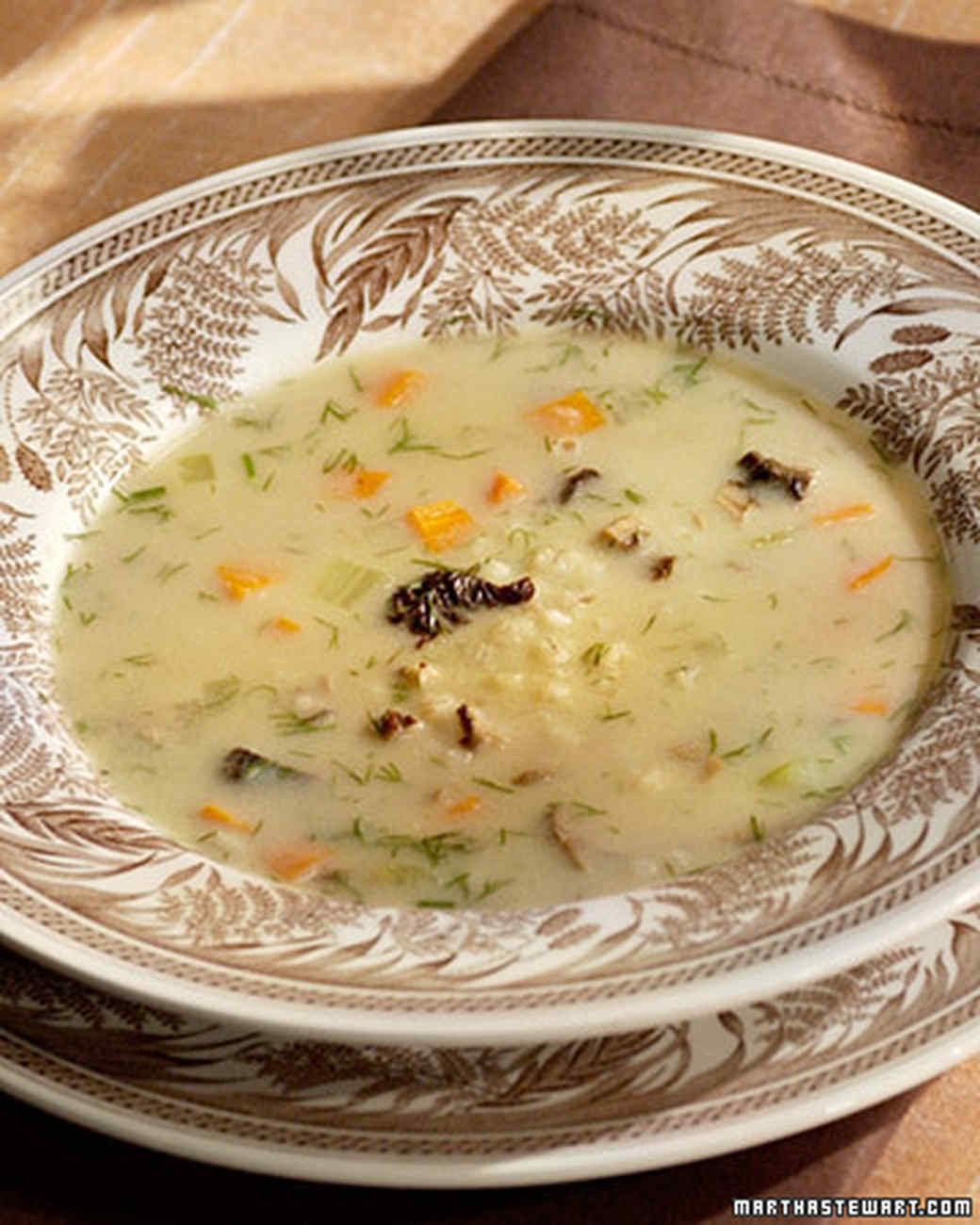 Mushroom Barley Soup Recipe & Video | Martha Stewart