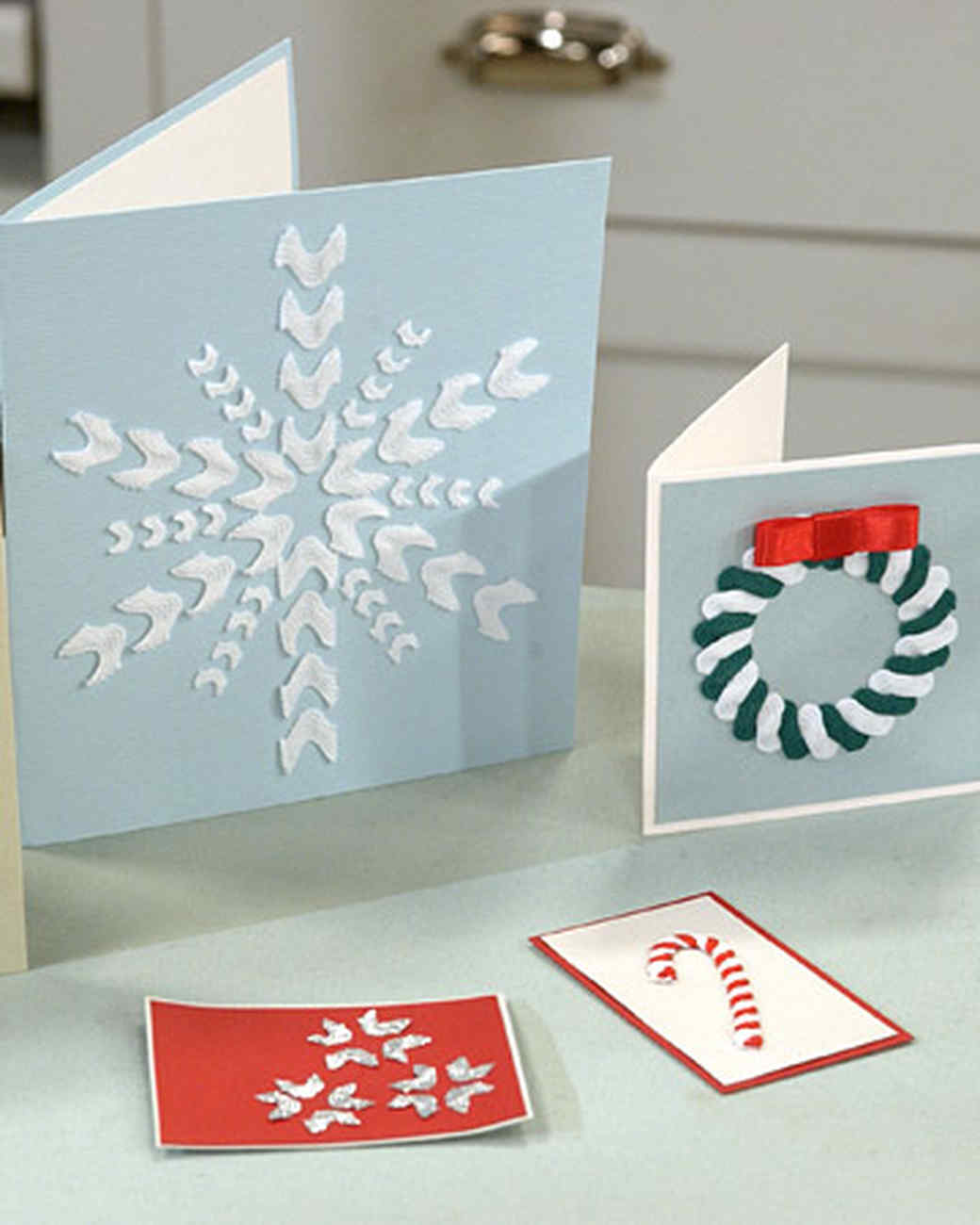 Candy Cane Rickrack Cards